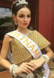 Vindy K. | Miss Global Vietnam 2017 in traditional Cambodian costume